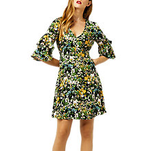 Buy Warehouse Painted Meadow Tea Dress, Black Pattern Online at johnlewis.com