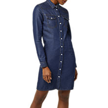 Buy Warehouse Denim Western Shirt Dress, Dark Wash Online at johnlewis.com