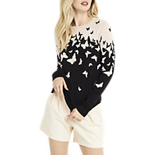 Buy Oasis Round Neck Butterfly Jumper, Multi Online at johnlewis.com
