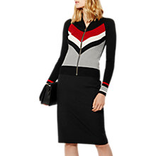 Buy Karen Millen Bodyline Collection Cardigan, Grey/Multi Online at johnlewis.com