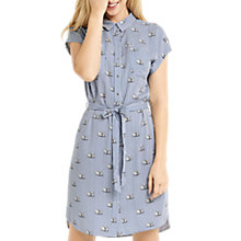 Buy Oasis Stripe Swan Short Sleeve Collar Neck Shirt Dress, Blue/White Online at johnlewis.com