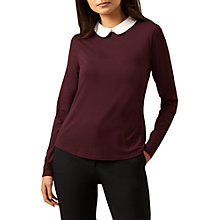 Buy Hobbs Sasha Top, Merlot/Ivory Online at johnlewis.com