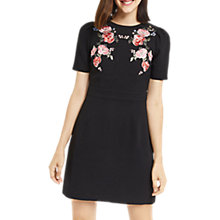 Buy Oasis Rose Embroidered Shift Dress, Multi Online at johnlewis.com