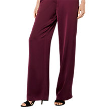 Buy Karen Millen Wide Leg Trousers, Aubergine Online at johnlewis.com