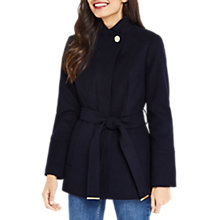 Buy Oasis Leah Short Funnel Coat, Navy Online at johnlewis.com