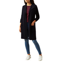 Buy Hobbs Eleanor Longline Cardigan, Navy Online at johnlewis.com
