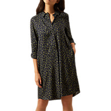 Buy Hobbs Marci Shirt Dress, Navy/Mimosa Online at johnlewis.com