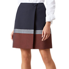 Buy Hobbs Simone Wrap Skirt, Navy/Multi Online at johnlewis.com