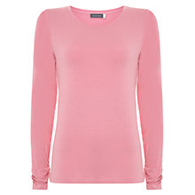 Buy Mint Velvet Scoop Neck Modal T-Shirt, Pink Online at johnlewis.com