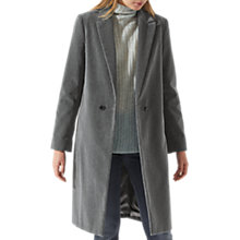Buy Jigsaw Matchinsky Velvet Coat, Shadow Grey Online at johnlewis.com