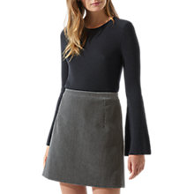 Buy Jigsaw Brushed Velvet Straight Skirt, Shadow Grey Online at johnlewis.com