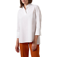 Buy Hobbs Cathy Shirt, White Online at johnlewis.com