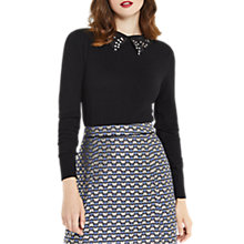 Buy Oasis Butterfly Collared Knitwear, Black Online at johnlewis.com