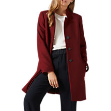 Buy Jigsaw Funnel Neck Coat, Winter Berry Online at johnlewis.com