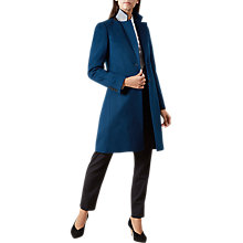 Buy Hobbs Tilda Coat, Teal Online at johnlewis.com