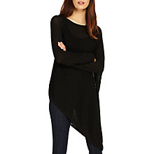 Buy Phase Eight Drina Asymmetric Jumper, Black Online at johnlewis.com