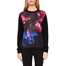 Buy Ted Baker Impressionist Bloom Jumper, Black/Multi Online at johnlewis.com