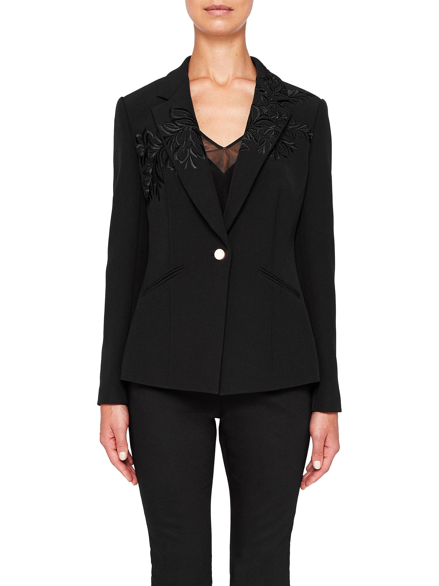 28e0bcc01 Ted Baker Oibia Embroidered Suit Jacket at John Lewis   Partners