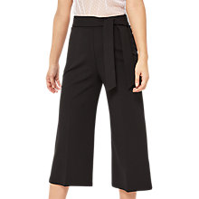Buy Miss Selfridge Tie Cropped Trousers, Black Online at johnlewis.com