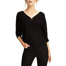 Buy Phase Eight Cristine Metal Trim Jumper, Black Online at johnlewis.com