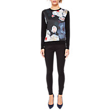 Buy Ted Baker Holiee Chelsea Print Woven Jumper, Black/Multi Online at johnlewis.com