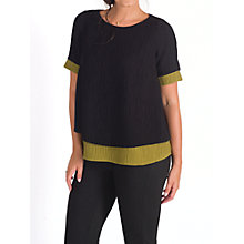 Buy Chesca Textured Top, Black/Lime Online at johnlewis.com