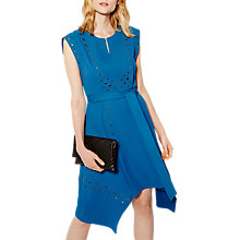 Buy Karen Millen Embellished Eyelet Midi Dress, Blue Online at johnlewis.com