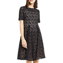 Buy Oasis Lace Skater Dress, Black Online at johnlewis.com