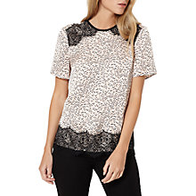 Buy Damsel in a dress Lynx Print Top, Blush/Ivory/Black Online at johnlewis.com