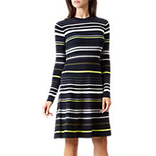 Buy Hobbs Jayne Stripe Dress, Navy/Multi Online at johnlewis.com