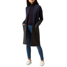Buy Hobbs Penelope Coatigan, Navy/Grey Online at johnlewis.com