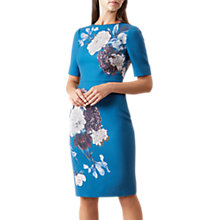 Buy Hobbs Hazel Floral Dress, Teal Online at johnlewis.com