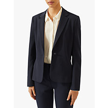 Buy Jigsaw New Paris One Button Jacket, Navy Online at johnlewis.com