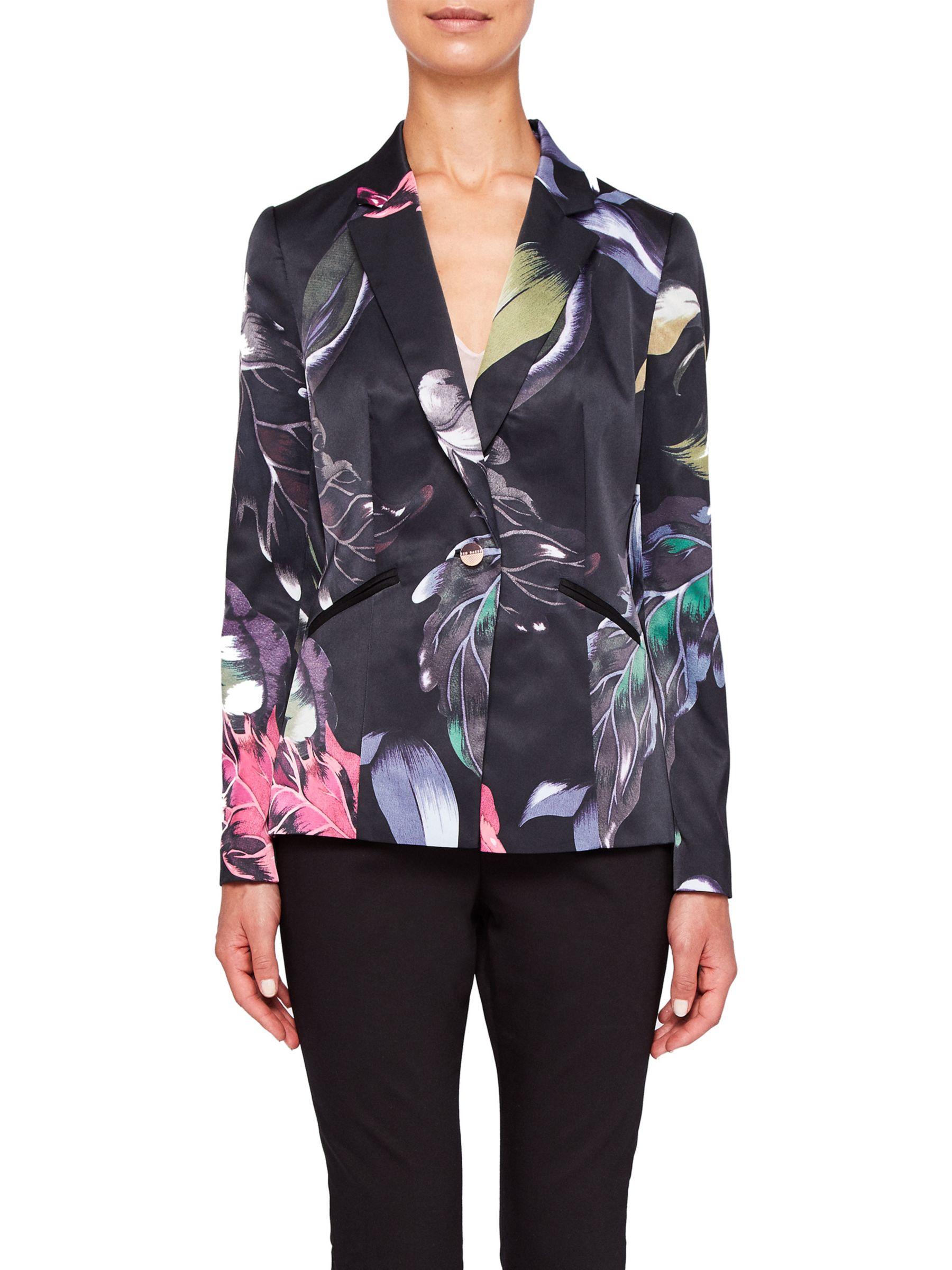 59c6320f3 Ted Baker Eden Floral Suit Blazer Jacket