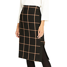Buy Phase Eight Hermione Check Pencil Skirt, Black/Camel Online at johnlewis.com