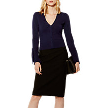 Buy Karen Millen Knotted Cardigan, Navy Online at johnlewis.com