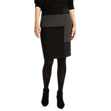 Buy Phase Eight Cassidy Colourblock Knitted Pencil Skirt, Black/Grey Online at johnlewis.com