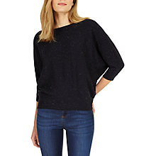 Buy Phase Eight Flecked Becca Batwing Jumper, Navy Online at johnlewis.com
