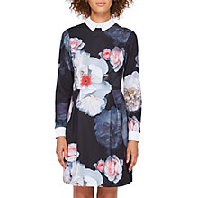 Buy Ted Baker Kaleesa Chelsea Flower Collar Dress, Black/Multi Online at johnlewis.com