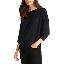 Buy Phase Eight Cristine Batwing Jumper, Navy Online at johnlewis.com