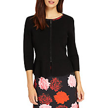 Buy Phase Eight Poppy Peplum Knitted Jacket, Black Online at johnlewis.com
