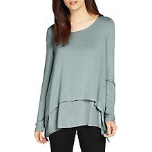 Buy Phase Eight Ciera Double Layer Top, Sage Online at johnlewis.com