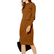 Buy Karen Millen Knitted Contrast Chevron Print Jumper, Orange/Multi Online at johnlewis.com