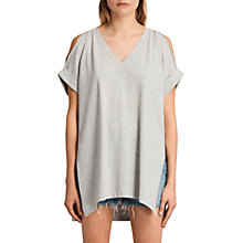 Buy AllSaints Cora V-Neckline T-Shirt Online at johnlewis.com
