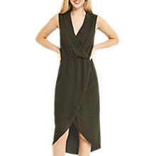 Buy Oasis Plain Wrap Midi Dress, Khaki Online at johnlewis.com