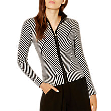 Buy Karen Millen Striped Knitted Cardigan, Black/White Online at johnlewis.com