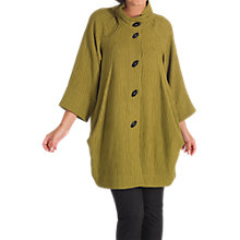Buy Chesca Textured Jacquard Coat, Lime Online at johnlewis.com