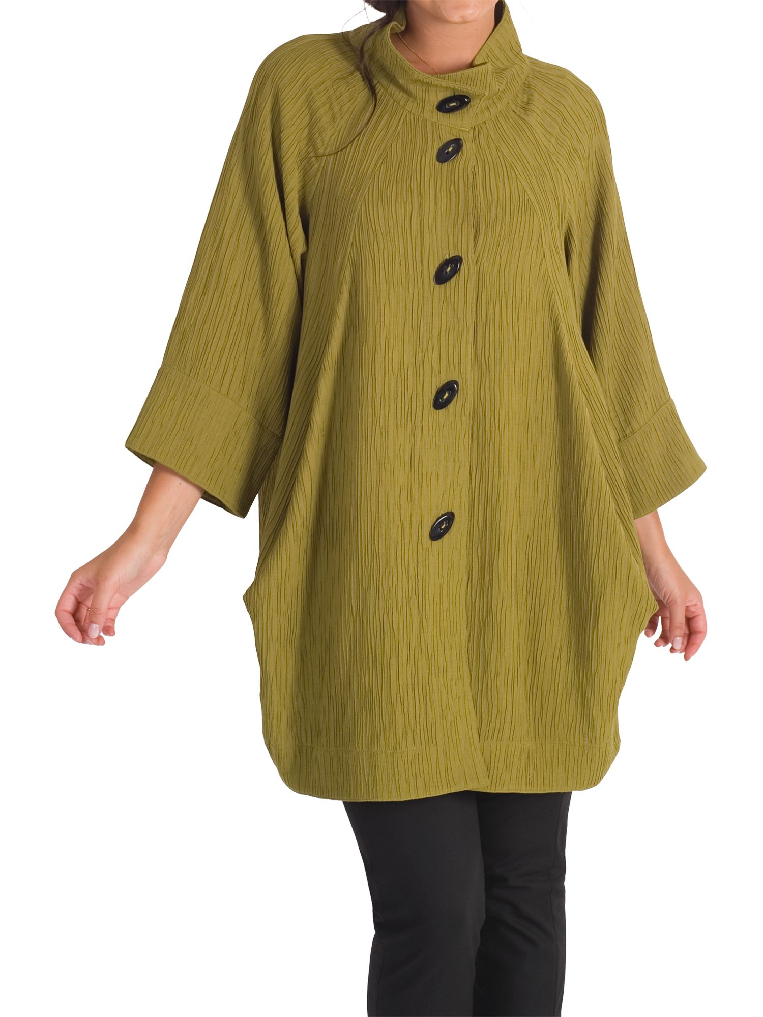 Chesca Chesca Textured Jacquard Coat, Lime