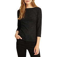 Buy Phase Eight Rosa Ribbed Top, Pine Online at johnlewis.com
