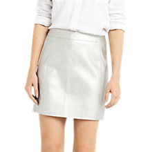Buy Oasis Faux Leather Metallic Skirt, Gold Online at johnlewis.com